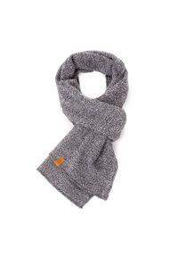 BRODRENE - Szalik męski elegancki na zimę Brodrene S1 jasnoszary. Kolor: szary. Materiał: materiał. Sezon: zima. Styl: elegancki
