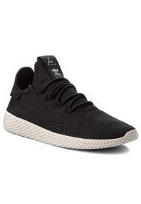 Czarne półbuty Adidas z cholewką, klasyczne