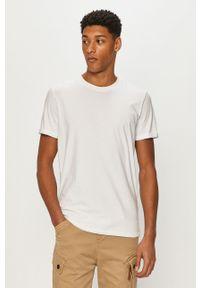 Biały t-shirt Premium by Jack&Jones na co dzień, gładki