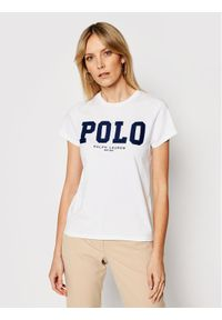 Polo Ralph Lauren T-Shirt 211827660001 Biały Slim Fit. Typ kołnierza: polo. Kolor: biały