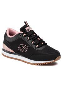 Czarne buty sportowe skechers z cholewką, na co dzień