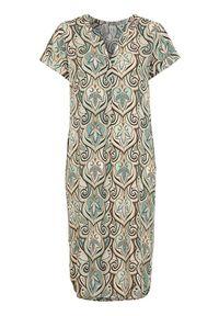 Niebieska sukienka Soyaconcept elegancka, z krótkim rękawem
