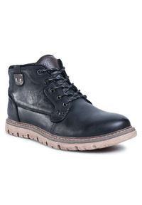 Czarne buty zimowe Lee Cooper z cholewką, eleganckie
