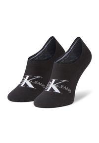 Calvin Klein Jeans - Skarpety Stopki Damskie CALVIN KLEIN JEANS - 100001769 Black 001. Kolor: czarny. Materiał: elastan, poliester, materiał, poliamid, bawełna