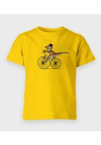 MegaKoszulki - Koszulka dziecięca T-Rex Na Rowerze. Materiał: bawełna