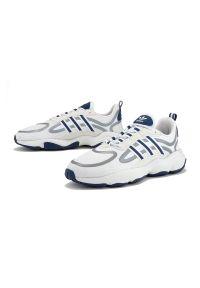 Szare sneakersy Adidas na co dzień, z cholewką