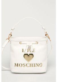 Biała torebka Love Moschino mała, z aplikacjami