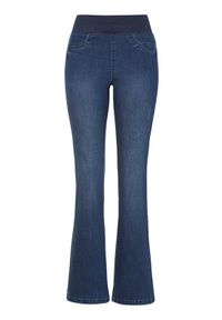 Niebieskie jeansy Freequent z podwyższonym stanem