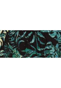 TOP SECRET - Luźna spódniczka z roślinnym nadrukiem. Kolor: czarny. Materiał: materiał. Wzór: nadruk. Sezon: wiosna