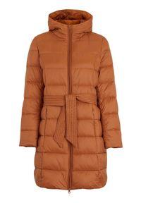 Brązowa kurtka Freequent na zimę, długa