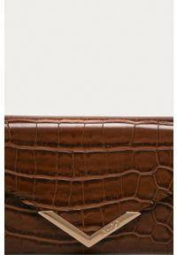 Aldo - Portfel. Kolor: brązowy. Materiał: materiał
