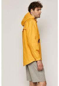 Żółta kurtka medicine gładkie, z kapturem, na co dzień