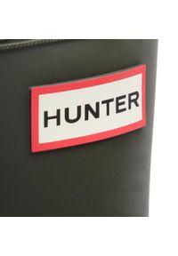 Zielone kalosze Hunter z aplikacjami, klasyczne