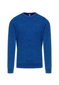 Niebieski sweter North Sails w kolorowe wzory #1