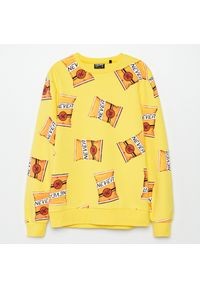Żółta bluza Cropp z nadrukiem #1
