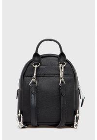 Karl Lagerfeld - Plecak skórzany. Kolor: czarny. Materiał: skóra. Wzór: aplikacja