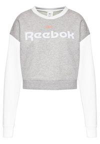 Reebok Bluza Linear Logo GN5419 Szary Oversize. Kolor: szary