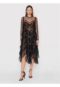 TwinSet Sukienka koktajlowa 212TP2200 Czarny Regular Fit. Kolor: czarny. Styl: wizytowy
