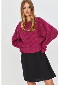 Różowy sweter Answear Lab wakacyjny, długi, z długim rękawem