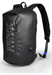 Czarny plecak na laptopa PORT DESIGNS w kolorowe wzory