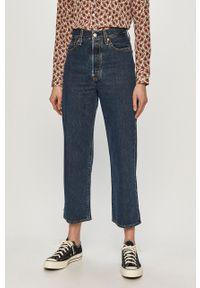 Niebieskie proste jeansy Levi's® biznesowe, gładkie