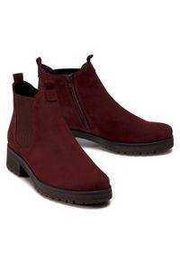 Czerwone buty trekkingowe Gabor