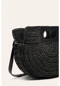 Czarna torba plażowa ANSWEAR na ramię