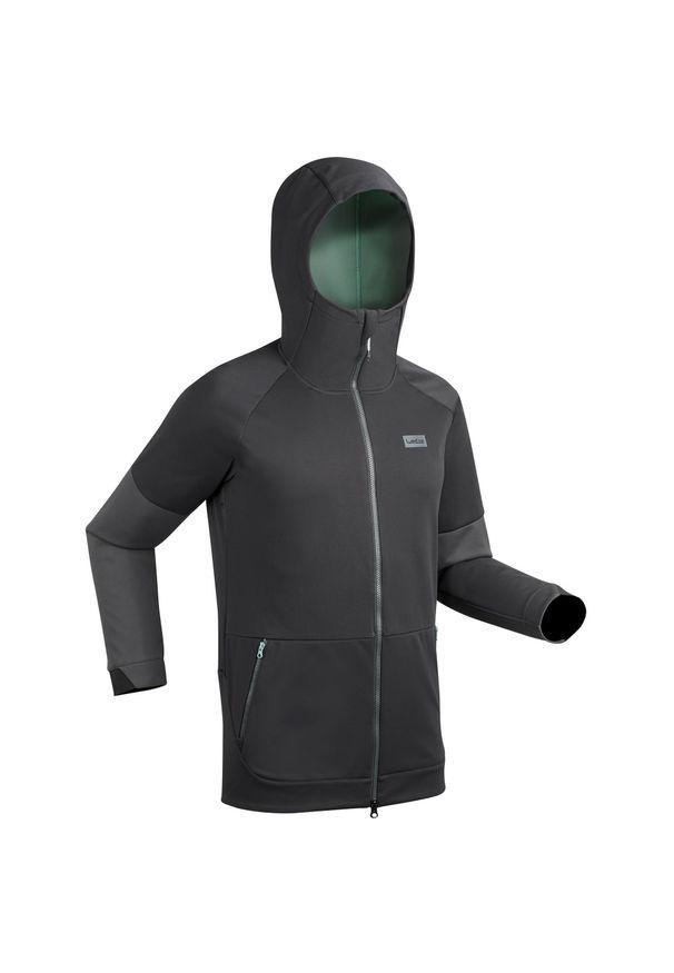 DREAMSCAPE - Bluza snowboardowa i narciarska SNB HDY męska. Kolor: brązowy, wielokolorowy, zielony, czarny. Materiał: poliester, elastan, materiał. Długość: długie. Sport: narciarstwo, snowboard