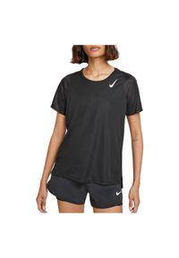 Koszulka damska do biegania Nike Dri-FIT Race DD5927. Materiał: tkanina, skóra, poliester, materiał. Technologia: Dri-Fit (Nike). Długość: długie. Wzór: gładki. Sport: fitness