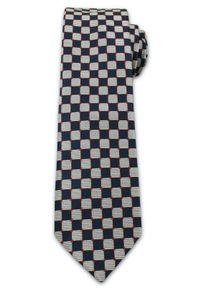 Oryginalny, Męski Krawat w Szachownicę - 6,7 cm - Chattier, Wielokolorowy. Kolor: wielokolorowy. Materiał: tkanina. Styl: wizytowy, elegancki
