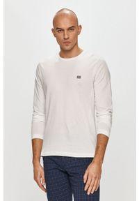 Biała koszulka z długim rękawem TOMMY HILFIGER na co dzień, casualowa