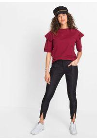 Bluza, krótki rękaw bonprix pomarańczowo-czerwony. Kolor: czerwony. Długość rękawa: krótki rękaw. Długość: krótkie
