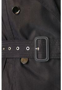 Niebieski płaszcz Guess Jeans długi, bez kaptura #7