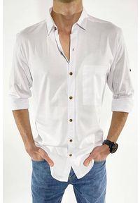 Biała koszula IVET na co dzień, klasyczna