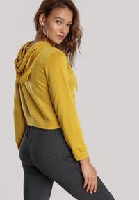 Żółta bluza z kapturem Renee