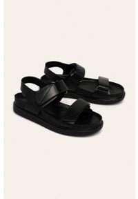 Czarne sandały vagabond na rzepy