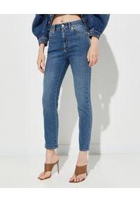 Alexander McQueen - ALEXANDER MCQUEEN - Niebieskie jeansy Skinny. Stan: podwyższony. Kolor: niebieski