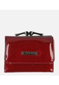 Cedar - Portfel damski lakierowany czerwony /8. Kolor: czerwony. Materiał: lakier