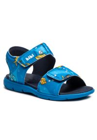 Niebieskie sandały Bibi z nadrukiem