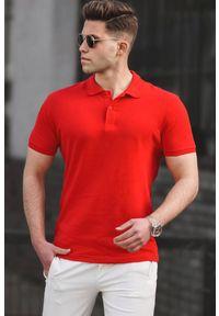 Czerwony t-shirt IVET casualowy, na co dzień, polo