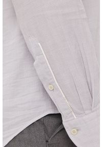 Baldessarini - Koszula bawełniana. Okazja: na co dzień. Typ kołnierza: kołnierzyk włoski. Kolor: szary. Materiał: bawełna. Długość rękawa: długi rękaw. Długość: długie. Wzór: gładki. Styl: casual