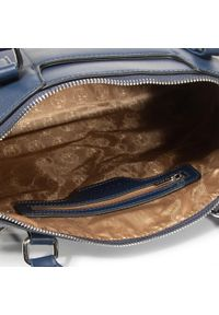 Niebieska torebka klasyczna Puccini