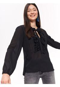 Czarna koszula TROLL z żabotem, na co dzień #7