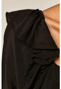 medicine - Medicine - Sukienka Glitch. Kolor: czarny. Materiał: tkanina. Długość rękawa: krótki rękaw. Wzór: gładki. Typ sukienki: rozkloszowane