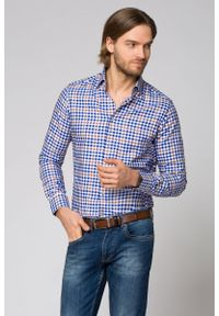 Niebieska koszula Lancerto casualowa, na co dzień