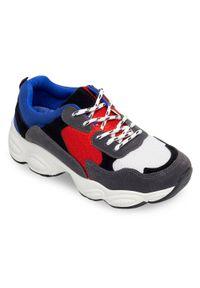 Buty sportowe N/M trekkingowe, w kolorowe wzory