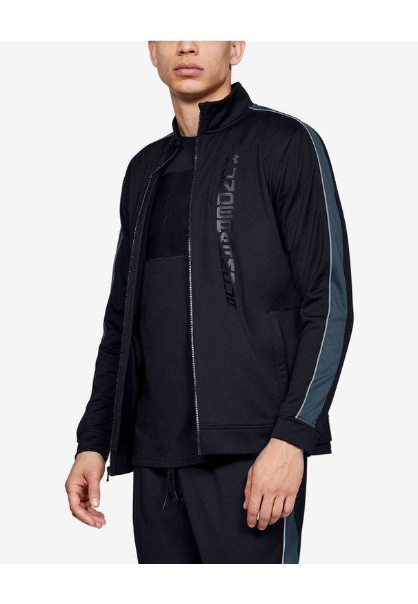 Czarna bluza Under Armour z nadrukiem, długa