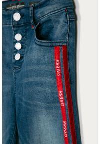 Niebieskie jeansy Guess Jeans z podwyższonym stanem