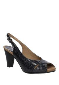 Szare sandały Pitillos na lato, klasyczne, w kolorowe wzory