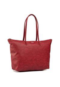 Czerwona torebka klasyczna Lacoste na ramię, klasyczna